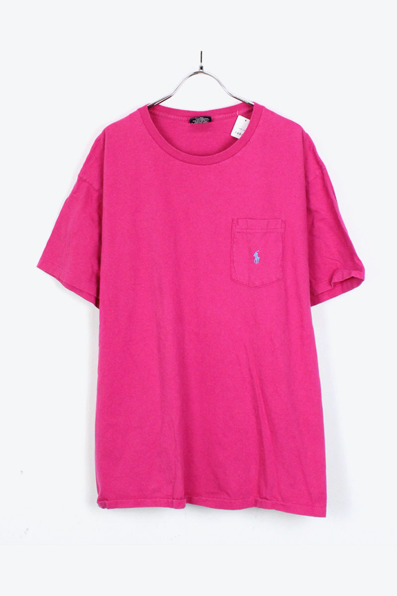 MADE IN USA 90'S ONE POINT T-SHIRT/ PINK [SIZE: L USED][金沢店]