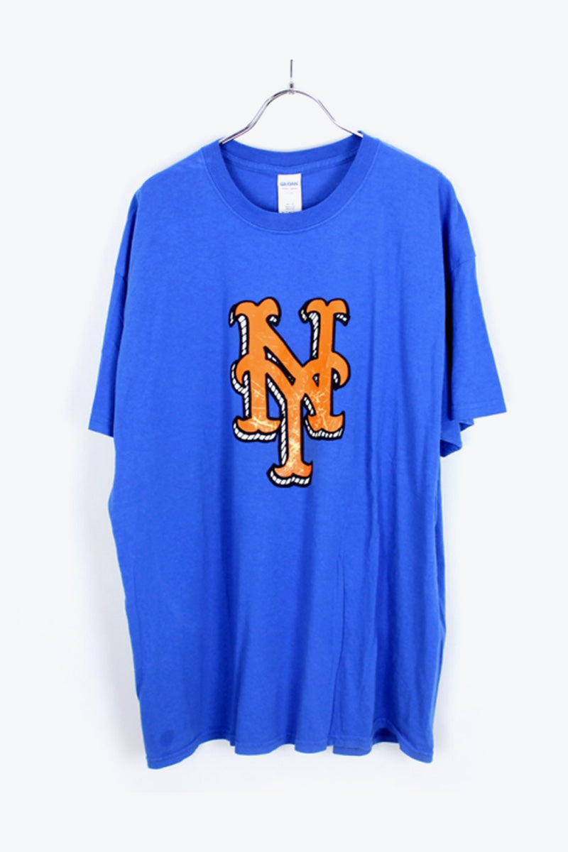 NY METS PREMIO T-SHIRT / BLUE [SIZE:XL USED] [小松店]