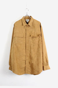 90'S L/S IMITATION SUEDE SHIRT / YELLOW【SIZE:L USED】【金沢店】
