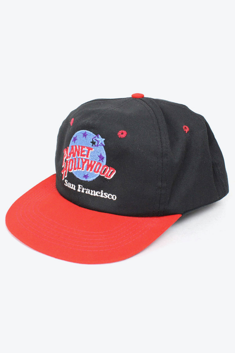 MADE IN USA SAN FRANCISCO COTTON LOGO CAP / BLACK RED [SIZE: O/S USED][金沢店]
