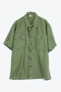 S/S ARMY SHIRT / OLIVE【SIZE:M相当 USED】【金沢店】