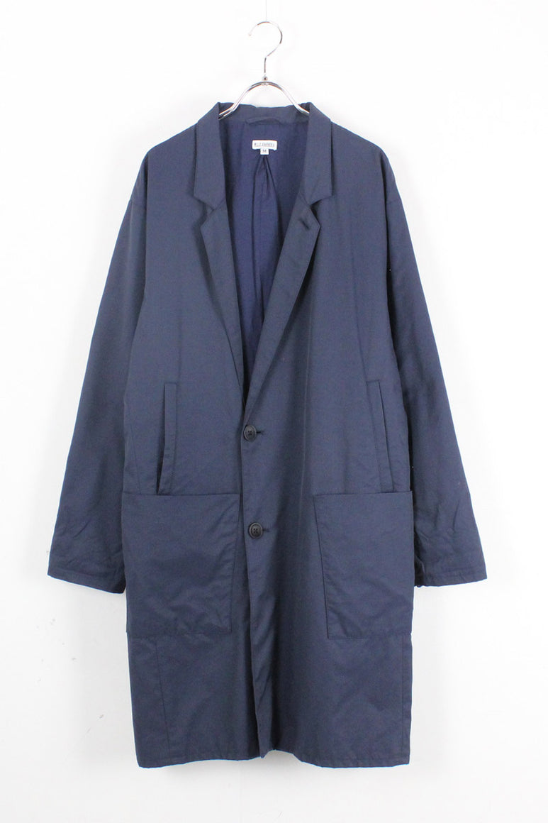 MADE IN USA COTTON NYLON LONG COAT / NAVY【SIZE:M USED】【金沢店】