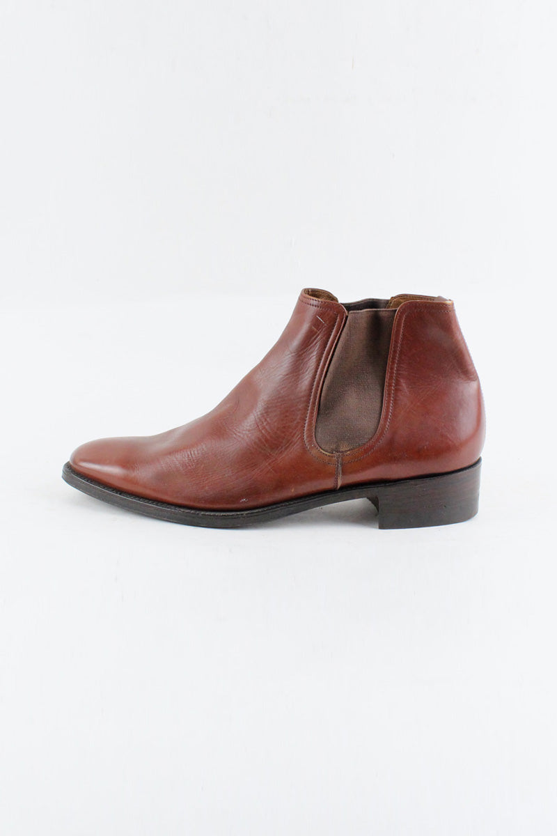 MADE IN ENGLAND 70'S CHELSEA BOOTS / BROWN [SIZE: US11(29cm相当) DEAD STOCK][金沢店]