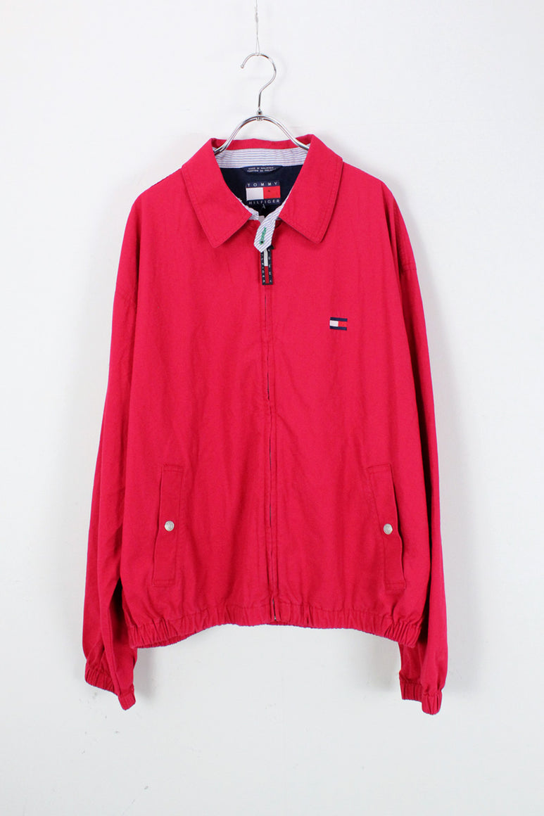 90'S COTTON SWING TOP / RED [SIZE: L USED]