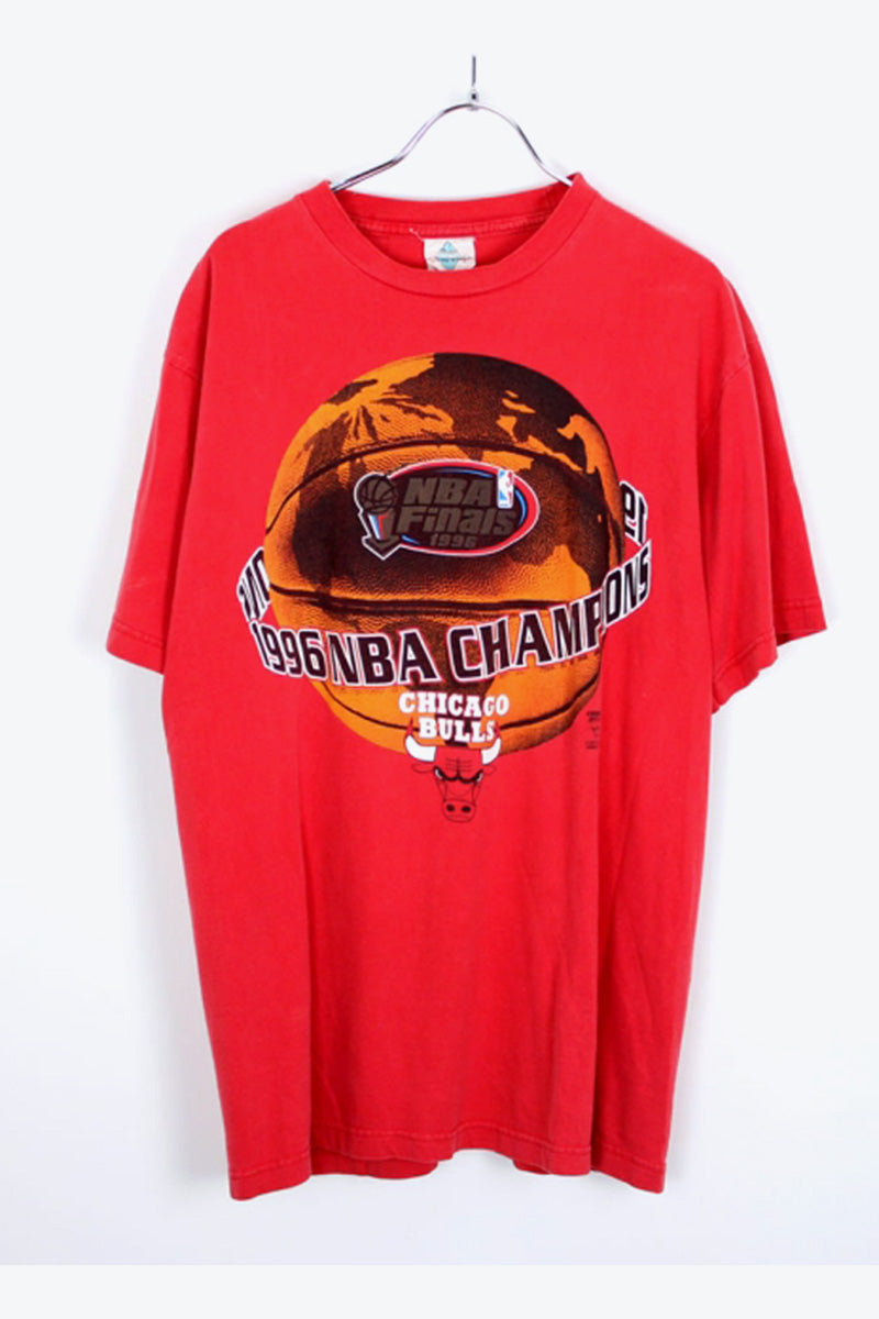 CHICAGO BULLS T-SHIRT / RED [SIZE:L USED] [小松店]