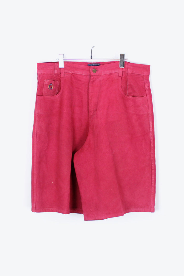 90'S MADE IN USA DENIM SHORTS / RED [SIZE: 36 USED][金沢店]