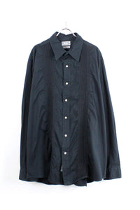 L/S COTTON SHIRT / BLACK [SIZE: XXL USED][小松店]