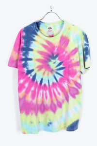 TIE DYE T-SHIRT / PINK/BLUE GREEN [SIZE:M USED] [小松店]