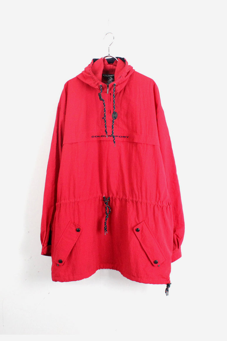 90'S NYLON ANORACK JACKET / RED【SIZE:M USED】【金沢店】