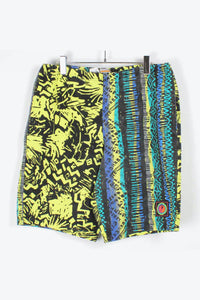 90'S SWIM SHORTS / BLACK YELLOW [SIZE: XL相当 USED][金沢店]