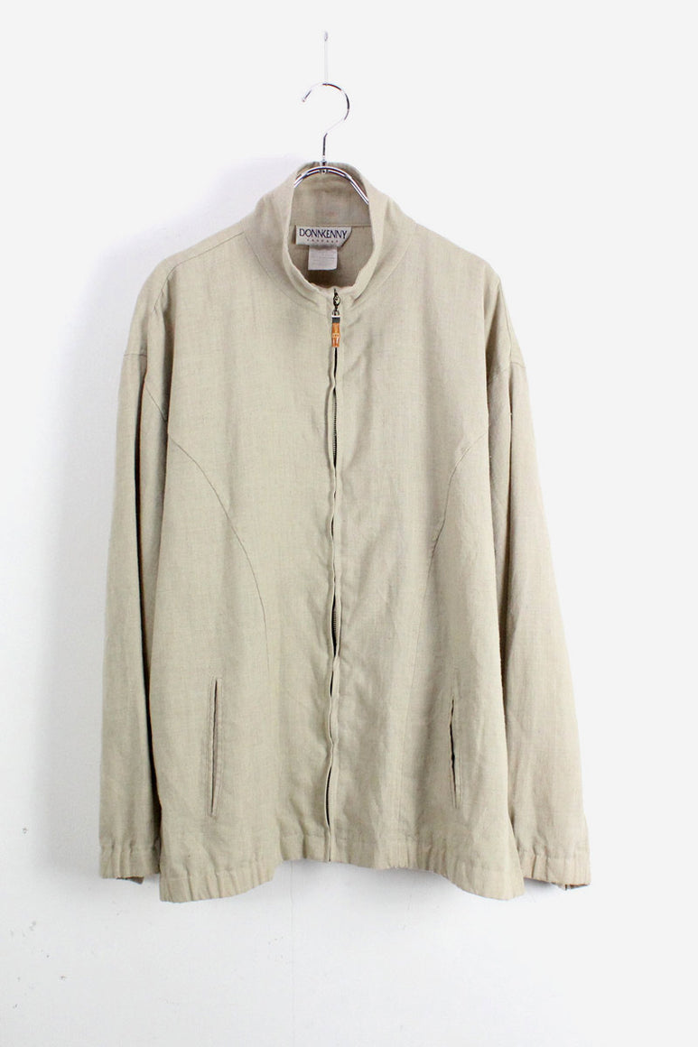 ZIP JACKET / BEIGE【SIZE:XL USED】【小松店】