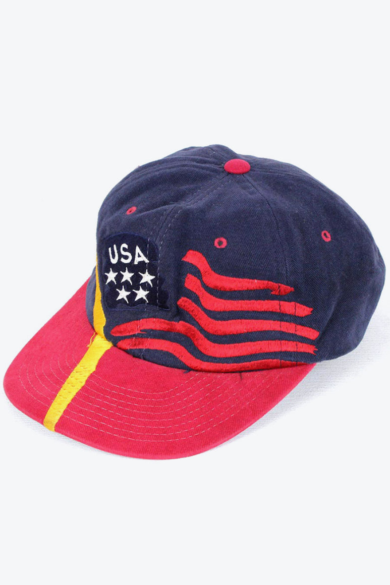 90'S USA LOGO CAP / NAVY RED [SIZE: O/S USED][金沢店]