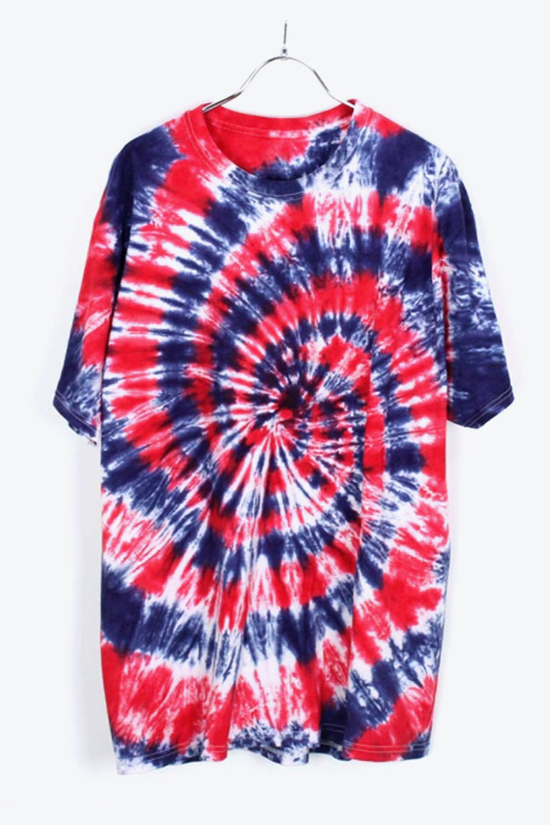 TIE DYE T-SHIRT / NAVY/RED [SIZE:L USED] [金沢店]