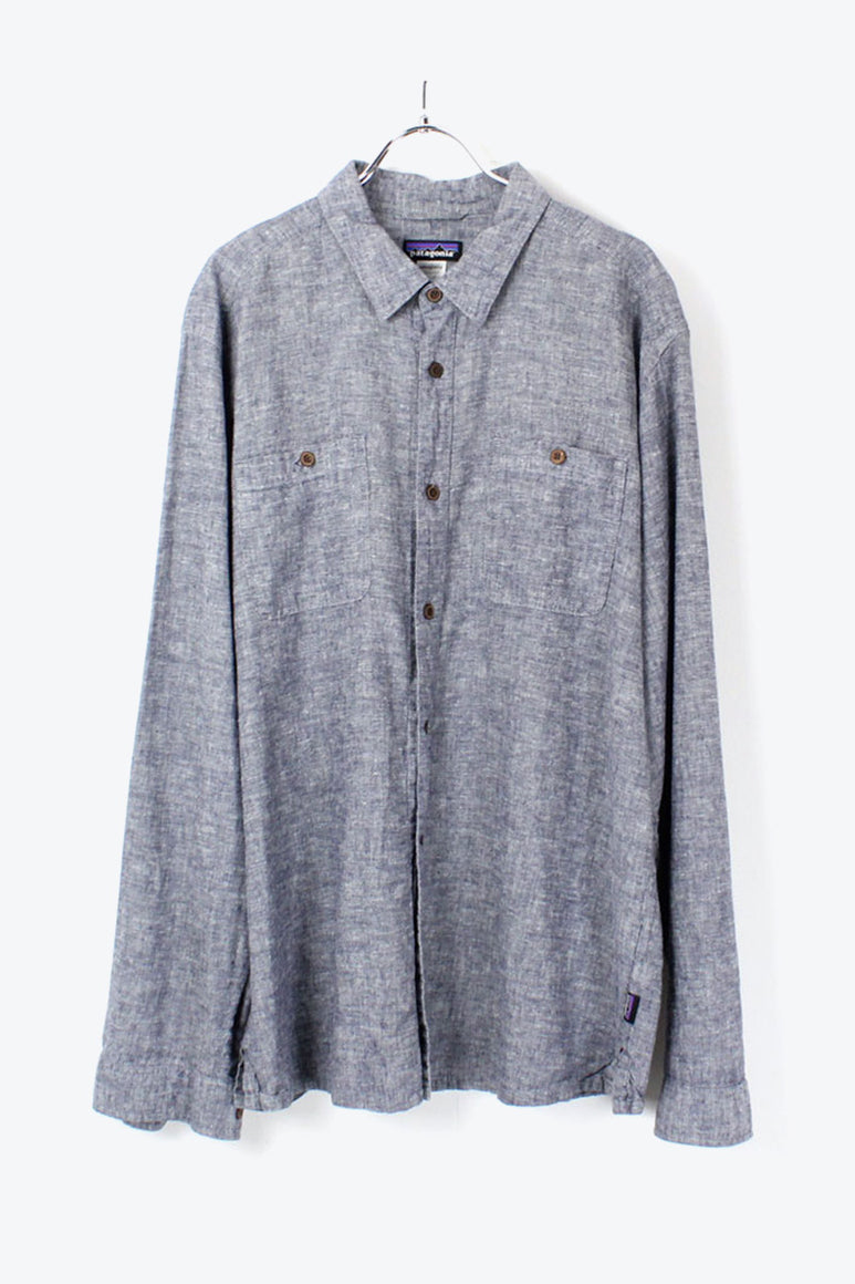 L/S ORGANIC COTTON SHIRT / GRAY [SIZE: L USED][金沢店]