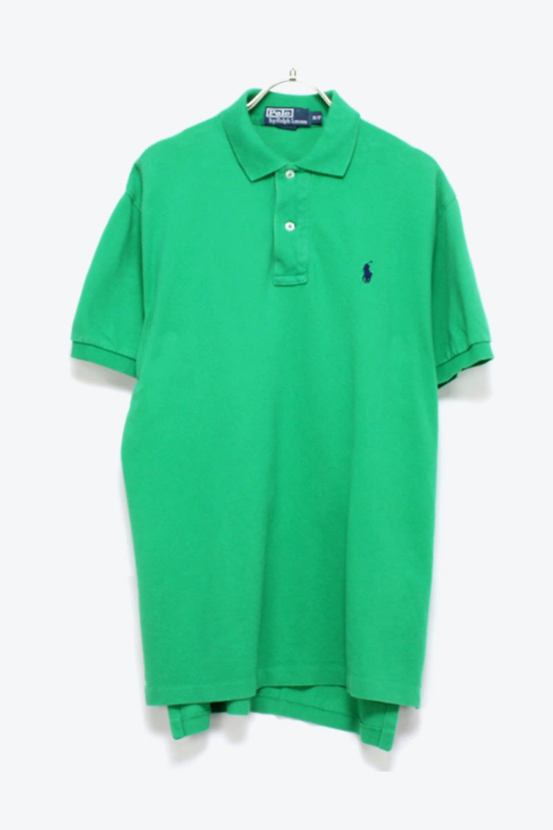 S/S EMBROIDERY LOGO POLO SHIRT / GREEN【SIZE:S USED】【金沢店】