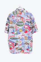 画像をギャラリービューアに読み込む, MADE IN HAWAII 90'S S/S PATTERN SHIRT / RED/LIGHT BLUE【SIZE:L USED】【金沢店】