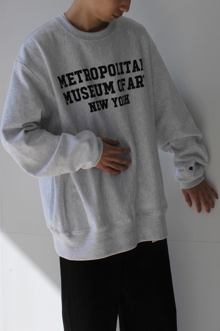 METROPOLITAN MUSEUM OF ART NEW YORK REVERSE WEAVE CREW SWEAT SHIRT / HEATHER GRAY [日本未発売モデル][NEW]