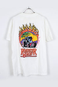 MADE IN USA ROAD STER SHOP T-SHIRT / WHITE [SIZE: L USED] [金沢店]