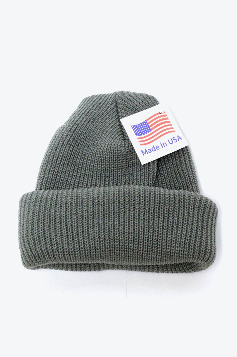 MADE IN USA ACRTLIC WATCH KNIT CAP / FOLIAGE GREEN