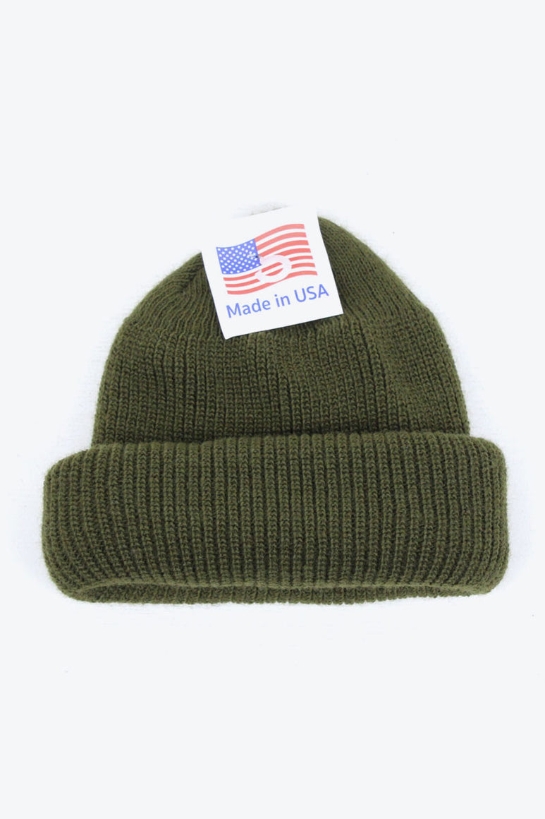 MADE IN USA ACRTLIC WATCH KNIT CAP / OLIVE DRAB