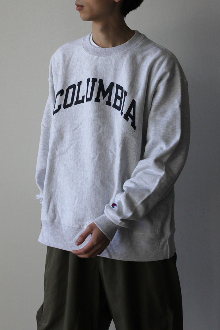 COLUMBIA UNIVERSITY REVERSE WEAVE CREW SWEAT SHIRT 日本未発売モデル / SILVER GREY HEATHER [NEW]