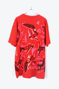 MADE IN USA PRINT T-SHIRT / RED [SIZE:XL USED] [金沢店]