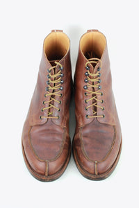 MADE IN ENGLAND V-TIP LACE UP BOOTS / BROWN [SIZE: US7(25cm相当) USED]