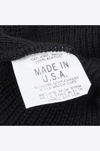 MADE IN USA ACRTLIC WATCH KNIT CAP / BLACK