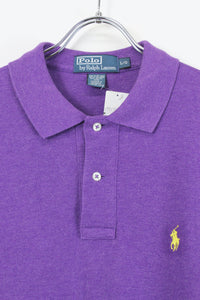 S/S POLO SHIRT / PURPLE【SIZE:L USED】【金沢店】