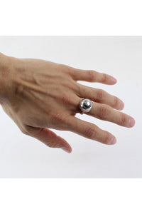925 SILVER RING/SILVER [SIZE:19号相当 USED][金沢店]