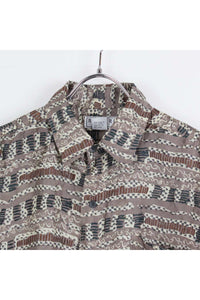 90'S S/S SILK PATTERN SHIRT / BROWN MULTI【SIZE:M USED】【金沢店】