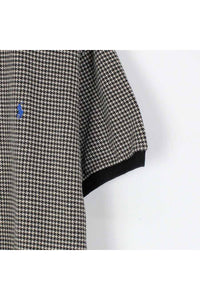 90'S CHECK POLO SHIRT / BLACK【SIZE:M USED】【金沢店】