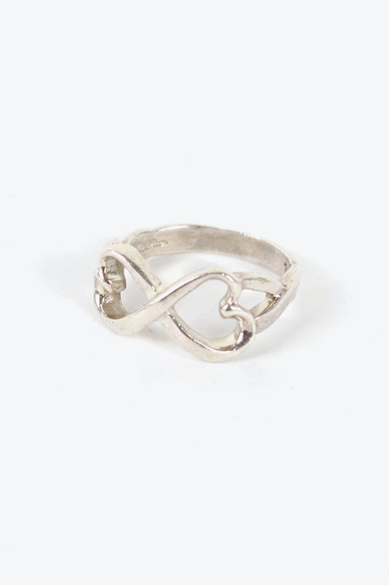 925 SILVER PALOMA PICASSO DOUBLE OPEN HEART RING [SIZE: 19号相当 USED]