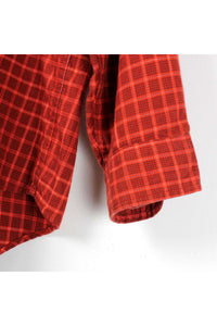 L/S ORGANIC COTTON CHECK SHIRT / RED [SIZE: L USED][金沢店]