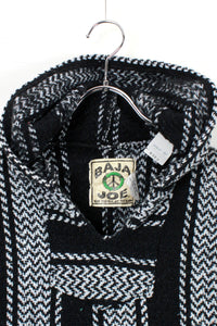 90'S MEXICAN HOODIE JACKET / BLACK / WHITE [SIZE: M USED]