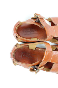 MADE IN BRAZIL LEATHER SANDALS / BROWN [SIZE: 8B (26cm相当) USED][金沢店]