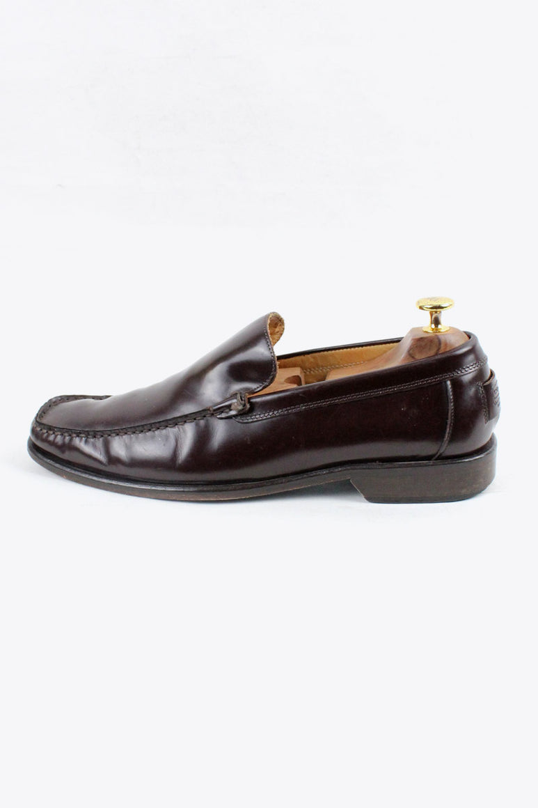 MADE IN ITALY LEATHER LOAFER / DARK BURGUNDY [SIZE: US9.5 (27.5cm相当) USED][金沢店]
