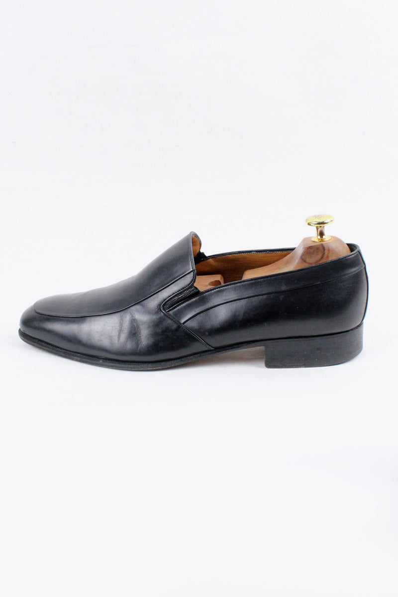 MADE IN ITALY LEATHER LOAFER / BLACK [SIZE: US9.5 (27.5cm相当) USED][金沢店]