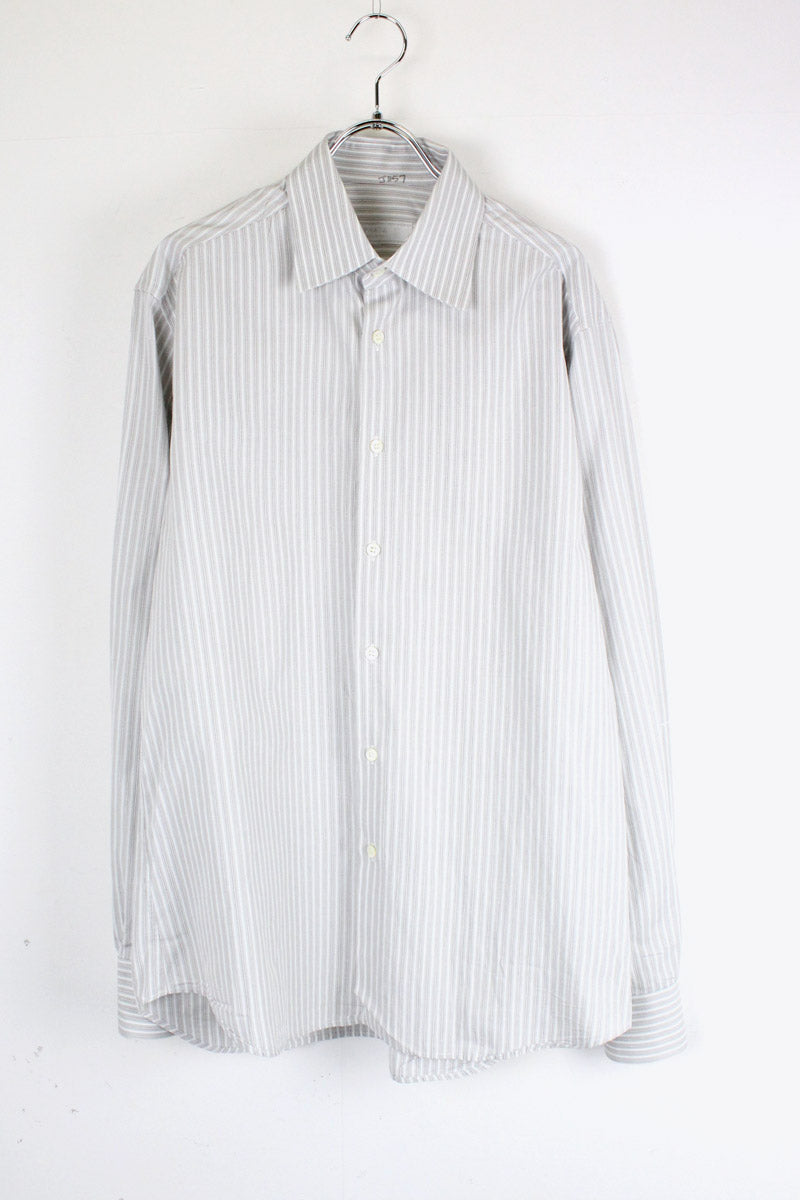 MADE IN ITALY L/S STRIPE SHIRT / GREY [SIZE: 40 USED][金沢店]