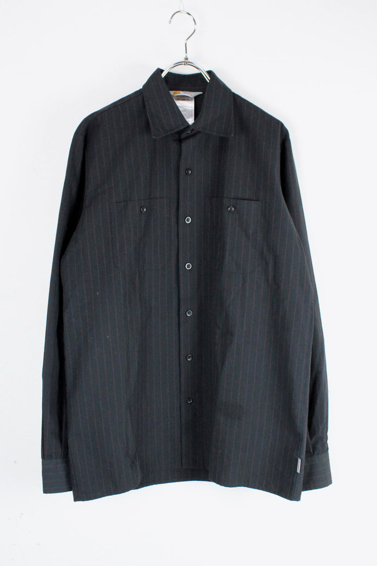 L/S STRIPE SHIRT / BLACK [SIZE: L相当 USED][金沢店]