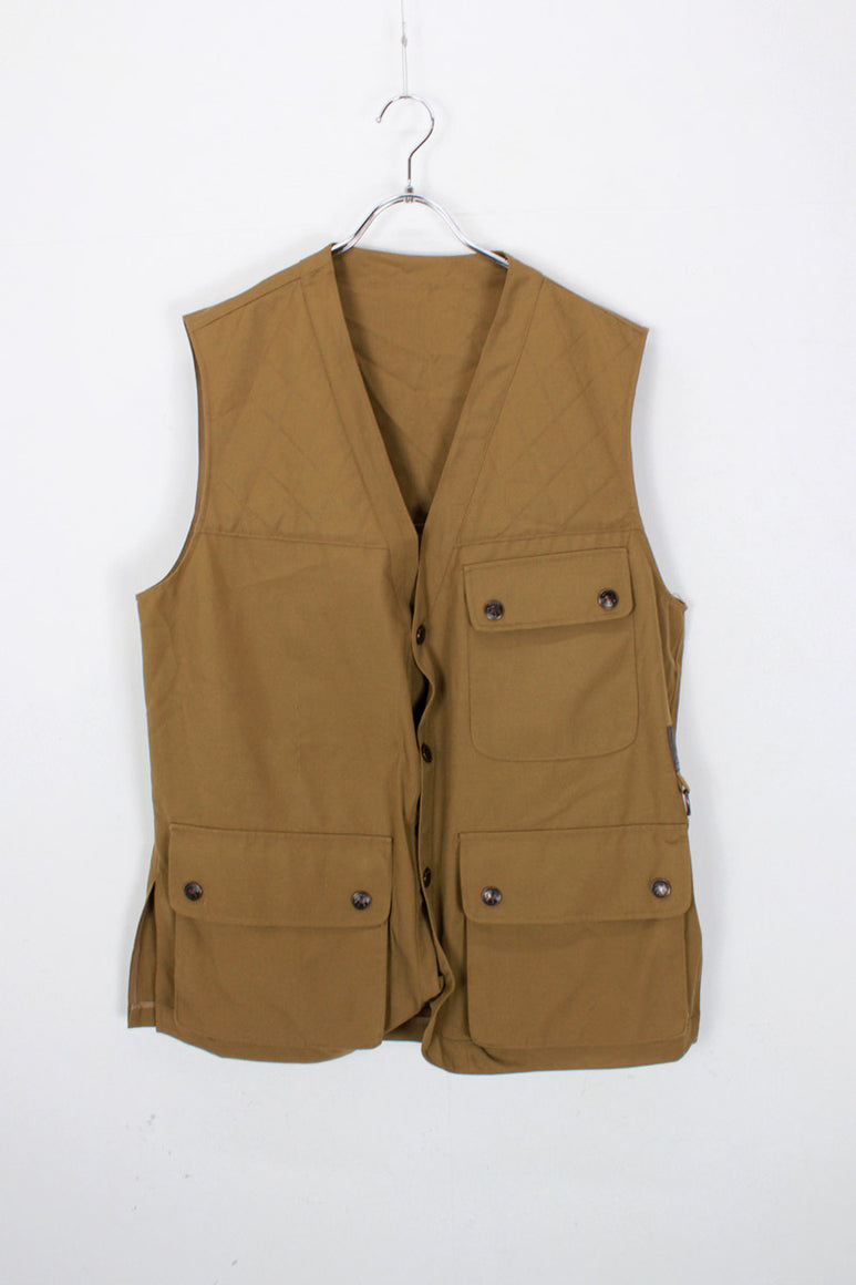 80'S HUNTING VEST / COYOTE [SIZE: 42 USED]