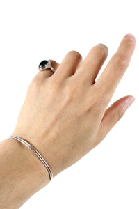 SILVER BANGLE [SIZE: ONE SIZE USED]
