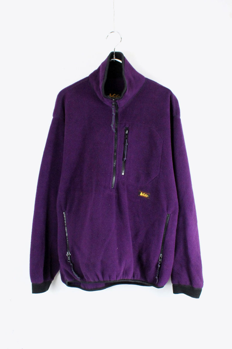 90'S PULLOVER FLEECE JACKET [SIZE: S USED]