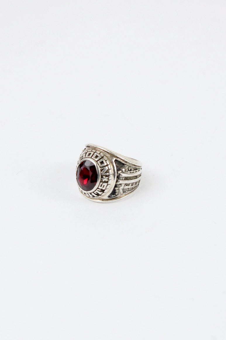 STERLING SILVER COLLEGE RING [SIZE: 16号相当 USED]
