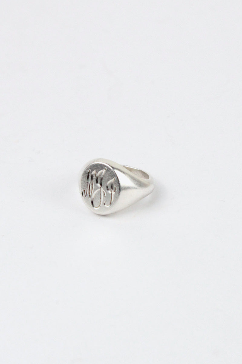 STERLING SILVER RING [SIZE: 9号相当 USED]