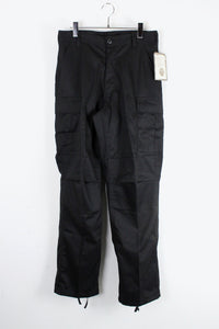 RELAXED FIT ZIPPER FLY BDU PANTS / BLACK [NEW]