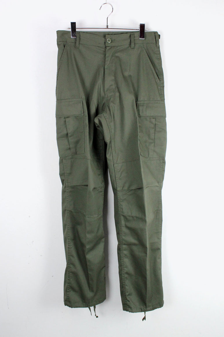 RELAXED FIT ZIPPER FLY BDU PANTS / OLIVE DRAB [NEW]