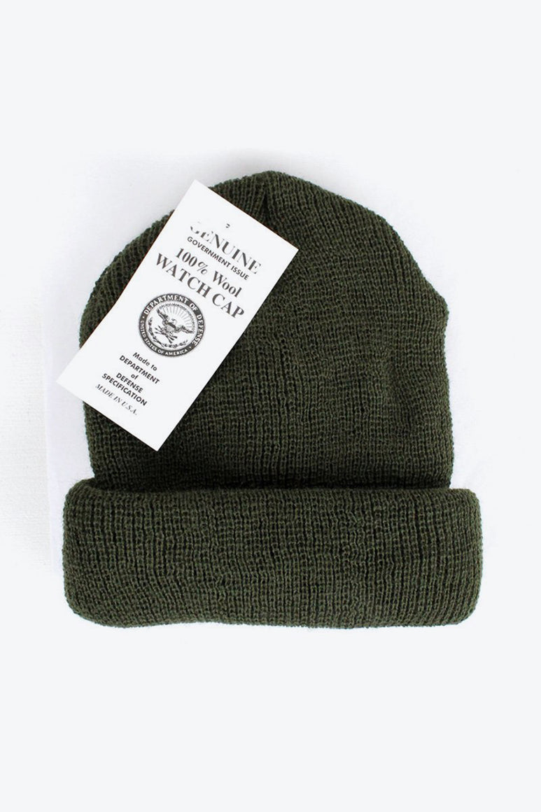 GENUINE G.I. WOOL WATCH CAP / OLIVE DRAB [NEW]