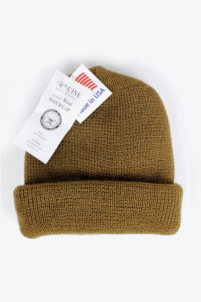 GENUINE G.I. WOOL WATCH CAP / COYOTE [NEW]