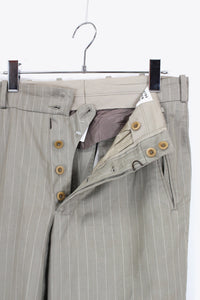 MADE IN ITALY STRIPE SLACKS PANTS / BEIGE [SIZE: 46 USED]